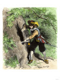 Connecticut Colonist Hiding the Colony's Charter in a Hollow Oak to Keep it from Governor Andros Giclee Print