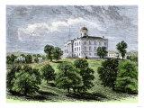 Old State Capitol Prior to 1881, When it Burned, Austin, Texas Giclee Print