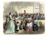 Primary School for Freedmen, in Charge of Mrs. Green, at Vicksburg, Mississippi, 1866 Giclee Print