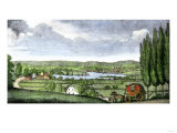Stagecoach on the Hartford Road Approaching Middletown, Connecticut, c.1790 Giclee Print