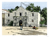 The Alamo in San Antonio, Texas, 1800s Giclee Print