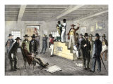 Slave Family on the Auction Block in Virginia, 1800s Giclee Print