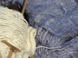 Knitting Needles and Handspun Wool at a Yorktown Reenactment, Virginia Photographic Print