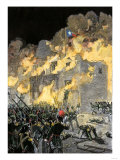 Fall of the Alamo to Santa Anna's Mexican Forces in Texas, 1836 Giclee Print