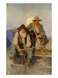 Stagecoach Driver and Armed Guard in the West Giclee Print