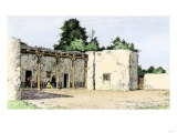 Adobe Building in the Old Spanish Section of Albuquerque, New Mexico Giclée-Druck
