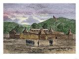 Fort Washington on the Site That Became Cincinnati, Ohio, 1789 Giclee Print
