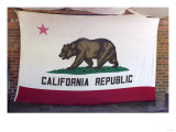 California Republic's Bear Flag on a Wall in Coloma Giclee Print