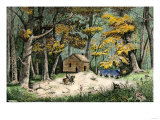 First Settler's Cabin in Indianapolis, Indiana, 1820 Giclee Print