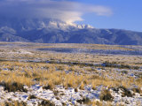Snow on the Sandia Mountains and High Plains Near Albuquerque, New Mexico Photographic Print