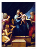 Madonna Del Pesce Giclee Print by  Raphael