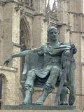 Statue of Constantine the Great at York, England, Where He was Proclaimed Roman Emperor in 306 Photographic Print