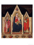 Triptych with Madonna and Saints Giclee Print by Cenni Di Francesco