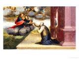 Saint Catherine Receiving the Stgmata - Predella: Mystic Marriage of Saint Catherine Giclee Print by Domenico Beccafumi
