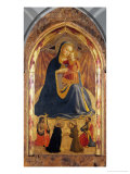 Madonna and Child with Saints John the Baptist, Dominic, Francis and Paul Reproduction proc&#233;d&#233; gicl&#233;e par Angelico &amp; Strozzi 
