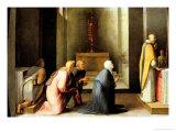 Miraculous Communion of Saint Catherine Giclee Print by Domenico Beccafumi
