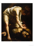 David and Goliath Giclee Print by  Caravaggio
