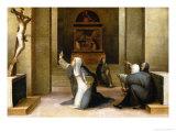 Saint Catherine Receiving the Stigmata Giclée-tryk af Domenico Beccafumi