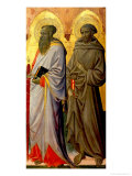 Saints Paul and Francis Giclee Print by Giovanni dal Ponte