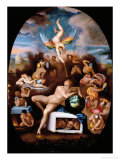 Allegory of Human Life Reproduction procédé giclée par Alessandro Allori
