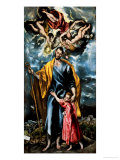 Saint Joseph and the Young Christ Lámina giclée por  El Greco