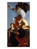Guardian Angel Succoring a Soul in Purgatory and Two Saints Giclee Print by  Cecco Del Caravaggio