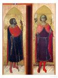 Saints Victor and Ansanus Giclée-tryk af Sassetta