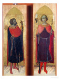 Saints Victor and Ansanus Giclee Print by  Sassetta