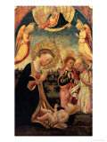 Virgin in Adoration with Saints James and the Young Saint John the Baptist Giclee Print by Neri Di Bicci