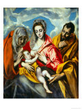Holy Family Giclee Print by  El Greco