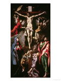 Christ Crucified with the Virgin, Mary Magdalene, Saint John the Evangelist and Angels Lámina giclée por  El Greco