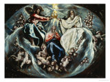 Coronation of the Virgin Giclee Print by  El Greco