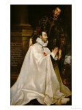 Juliano Romero and His Patron Saint Giclee Print by  El Greco
