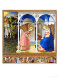 Annunciation Giclée-tryk af Angelico & Strozzi