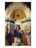 Madonna and Child with Six Saints Giclee Print by Giovanni Battista Cima Da Conegliano