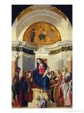 Madonna and Child with Six Saints Giclee Print by Giovanni Battista Cima Da Conegliano
