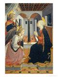 Annunciation with Saint Julian Giclée-tryk af Fra Filippo Lippi