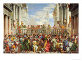 Marriage at Cana Giclée-tryk af Paolo Veronese
