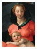 Madonna med barnet Giclée-tryk af Jacopo da Carucci Pontormo