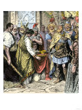 Odoacer Compels the Abdication of Romulus, the Last Roman Emperor of the West, 476 Ad Giclee Print