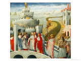 Procession of Saint Gregory Gicle-tryk af Giovanni di Paolo