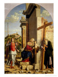 Madonna and Child with Saints Andrew and Michael Giclee Print by Giovanni Battista Cima Da Conegliano