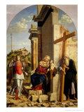 Madonna and Child with Saints Andrew and Michael Giclee Print by Giovanni Battista Cima Da Conegliano