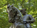 Paul Revere Statue Near Old North Church in Boston, Massachusetts Photographic Print
