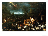 Adam and the Animals Giclee Print by Jacopo Bassano