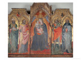 Polyptych with Madonna and Saints Giclee Print by Cenni Di Francesco