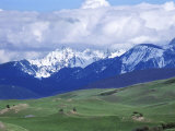 Bridger Mountains, Named for Jim Bridger, Along the Bozeman Pass on the Bozeman Trail, Montana Photographic Print