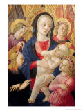Madonna and Child with Angels Giclee Print by  Master Of The Castello Nativity