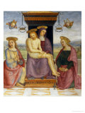 Pieta with Saints John and Mary Magdalene Giclee Print by Pietro Perugino
