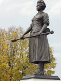 Molly Pitcher Statue Marking the Grave of Mary Mccauley in Carlisle, Pennsylvania Photographic Print